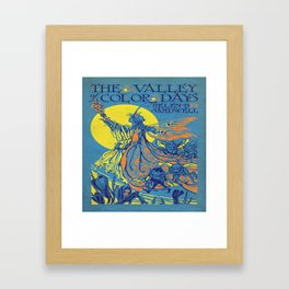 The Valley of Color Days Book Framed Art Print