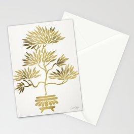Bonsai Tree – Gold Palette Stationery Cards