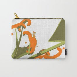 Luscious Lily Bold Graphic Pop Art Flower Print Carry-All Pouch