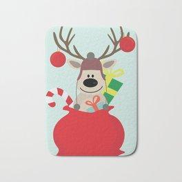Santa Claus sends you Surprise gift with Mr Reindeer Bath Mat