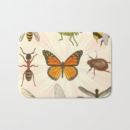 Insects on Parade Bath Mat