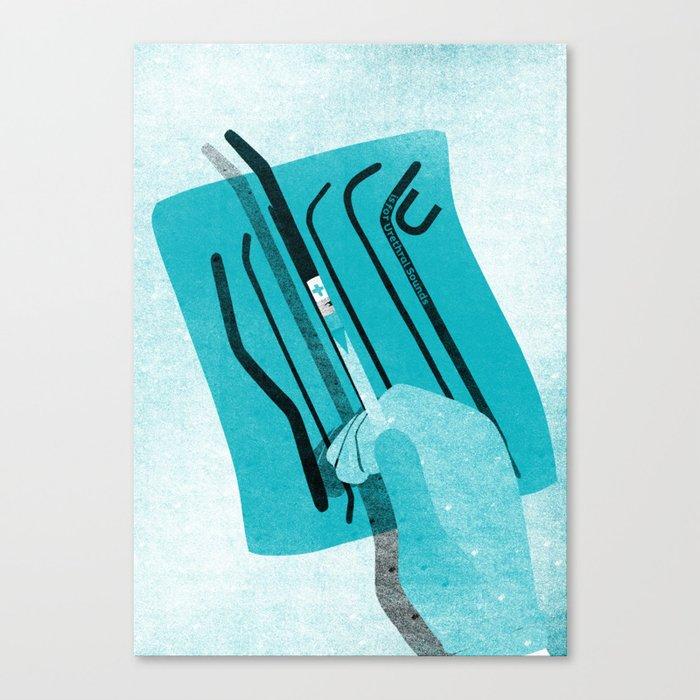 KinkyABC U is for Urethral Sounds Canvas Print