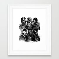 wwe Framed Art Prints featuring WWE 1789 by DIVIDUS