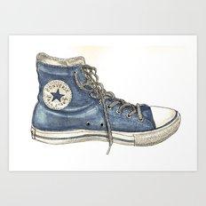 Converse Love Art Print