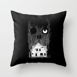 Horror house Throw Pillow
