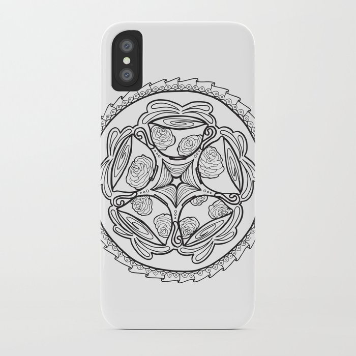Color In Coffee Mandala Coloring Page Iphone Case By Momsandcrafters