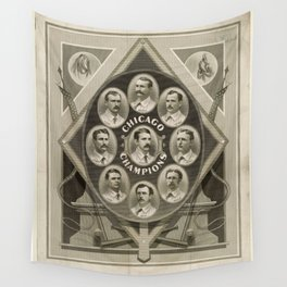 Chicago White Stockings Baseball Champions 1876-77 Wall Tapestry