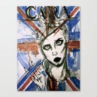 uk Canvas Prints featuring UK by Thomasine