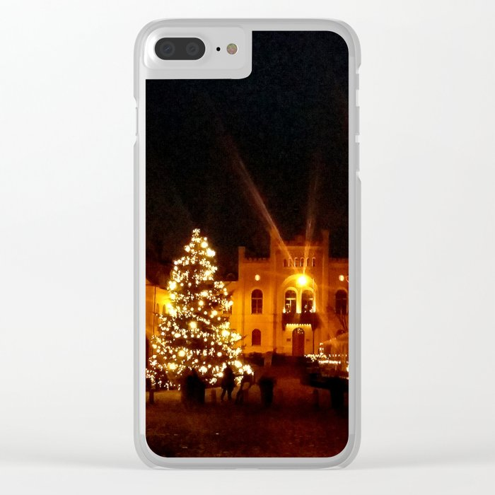 Christmas city Clear iPhone Case