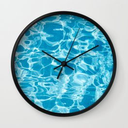 Geometric Pool Me - Retro Pool - Wall Clock