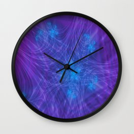 Mitosis in Purple Wall Clock