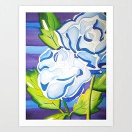 Blue Roses Art Print