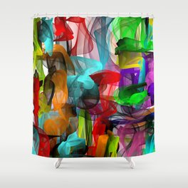 The enthusiasm Shower Curtain