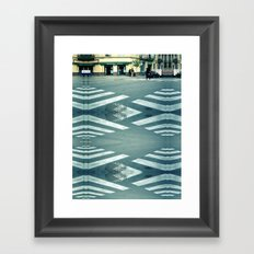 is the path clear? Framed Art Print