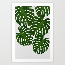 Monstera Leaf I Art Print