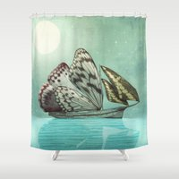 voyage Shower Curtains featuring The Voyage by Eric Fan