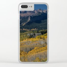 Aspens and the Castle Clear iPhone Case