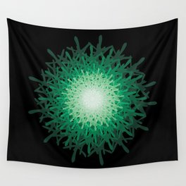 Green riddle Wall Tapestry