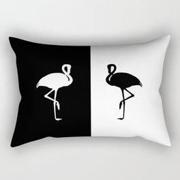 Flamingo black and White Rectangular Pillow
