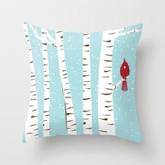 Winter Cardinal Wall Art  Throw Pillow