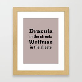 Dracula in the Streets Framed Art Print