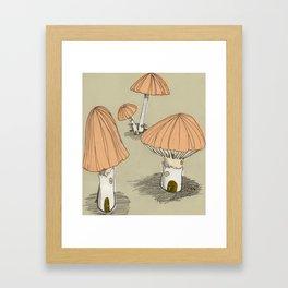 Mushroom Houses Framed Art Print