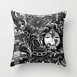 Black and White Woven IOOF Symbolism Tapestry Throw Pillow