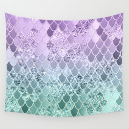 Mermaid Glitter Scales #1 #shiny #decor #art #society6 Wall Tapestry