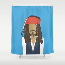 JACK SPARROW FLAT DESIGN Shower Curtain