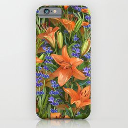 Lilies & Lavender iPhone Case