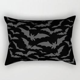 Bats swarm, Halloween, scary motif, Halloween party Rectangular Pillow