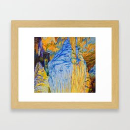 View of Luray Caverns Framed Art Print