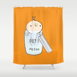 Peter in the Mason Jar Shower Curtain