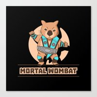 the mortal instruments Canvas Prints featuring Mortal Wombat by Sombras Blancas Art & Design