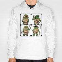 ninja turtle Hoodies featuring Teenage Mutant Ninja Turtle by Robbleeart