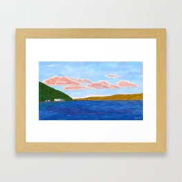 Red Clouds Spanning the Harbour Framed Art Print