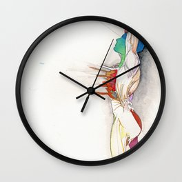 Soar, male abstract anatomy, NYC artist Wall Clock