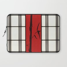 Shoji with bamboo ink painting Laptop Sleeve