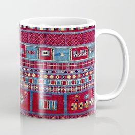 Tunisian Flatweave Antique Tribal Rug Print Coffee Mug