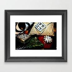 Jersey Glam Framed Art Print