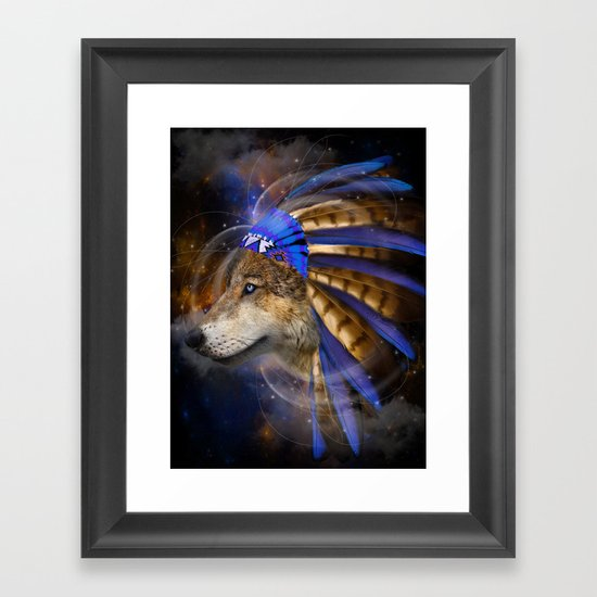 Fight For What You Love (Chief of Dreams: Wolf) Tribe Series Framed Art Print