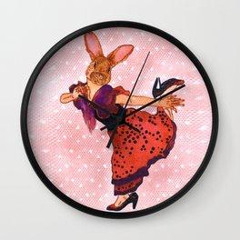 little tango bunny Wall Clock