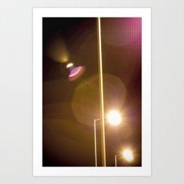 Lensflare Art Print