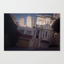 Tilted House - San Francisco Canvas Print