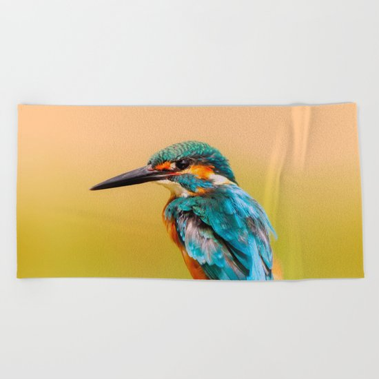 Radiant Bird Beach Towel