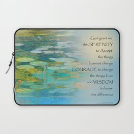 Serenity Prayer Koi Pond Blue Green Laptop Sleeve