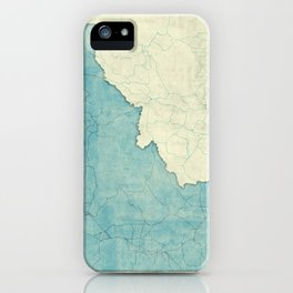 Idaho State Map Blue Vintage iPhone Case