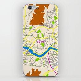 Seoul map Design iPhone Skin