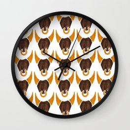 BULL HEAD ILLUSTRATION - SUMMER 2017 Wall Clock
