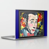 pee wee Laptop & iPad Skins featuring Pee Wee by Portraits on the Periphery